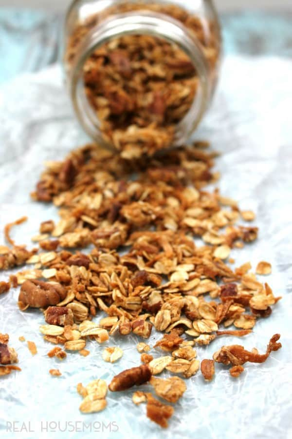 Coconut Pecan Granola ⋆ Real Housemoms