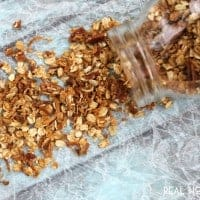 Coconut Pecan Granola is an easy to make snack that's perfect with some milk for breakfast, on yogurt, or just eat it by the handful!
