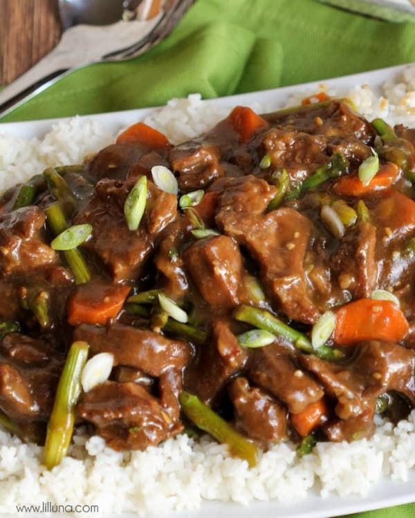 Crock Pot Mongolian Beef - Lil' Luna