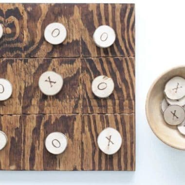 DIY Outdoor Tick Tac Toe Board Game