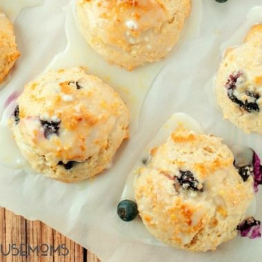 Shake up your morning routine with these easy Lemon Glazed Blueberry Scones. They whip up in just minutes in a single bowl!