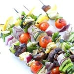 Grilled Veggie Kabobs are the perfect summer side dish for all of your meals!