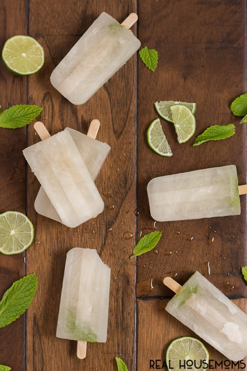 Your favorite summer cocktail just got a makeover! These Mojito Popsicles are full of sweet mint flavor with a hint of lime and a punch of rum!