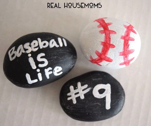 Grab the kids and help them show off their love for sports with these easy Baseball Painted Rocks!