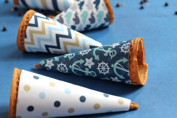 Make having ice cream even more fun with Printable Ice Cream Cone Wrappers!