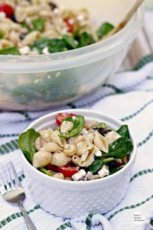 Spinach, Feta, and Bean Pasta Salad hero