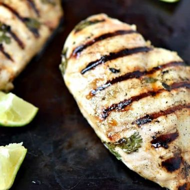 Tequila Lime Grilled Chicken is so simple and I love to serve it as fajitas!