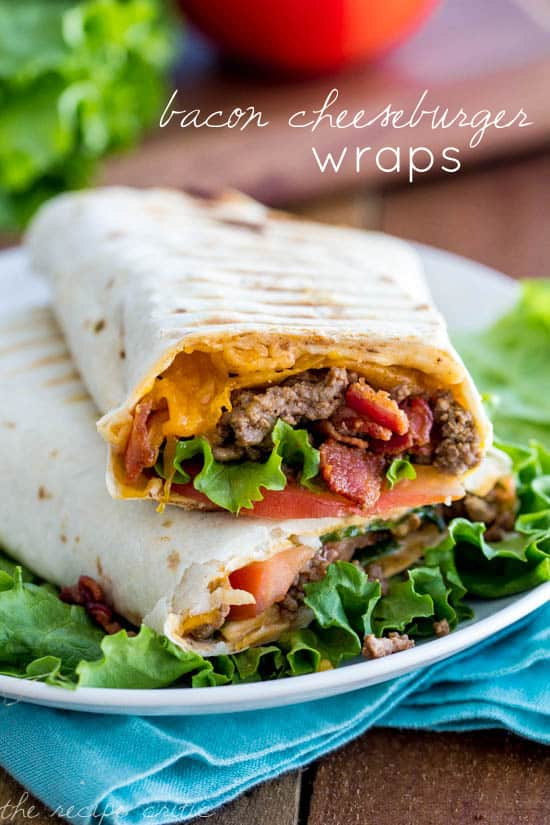 Bacon Cheeseburger Wraps | The Recipe Critic
