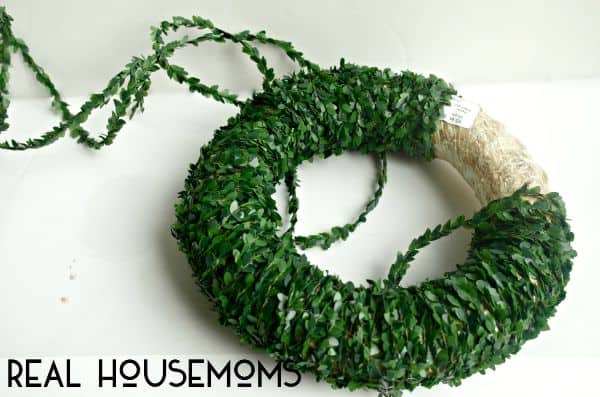 Add a touch of class and greenery to your home with this Simple Boxwood Flower Wreath!