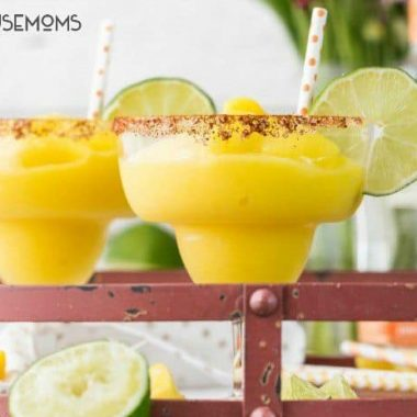 Chili Mango Margaritas are SUPER SIMPLE, refreshing, and perfect for Summer!