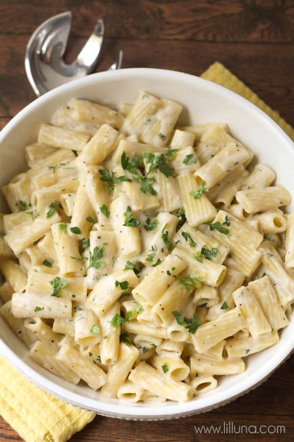 Creamy Garlic Penne Pasta | Lil' Luna