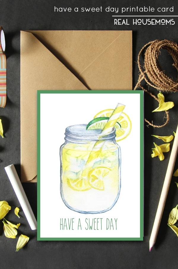 This Have a Sweet Day Printable Card is perfect to bring a smile to someone's face this summertime season. Perfect to attach to a gift...or just give alone for no reason at all!