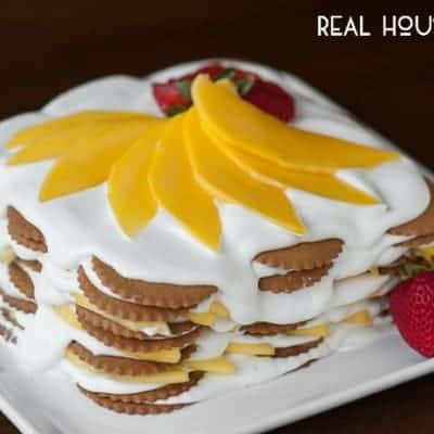 Mango Coconut Ginger Icebox Cake