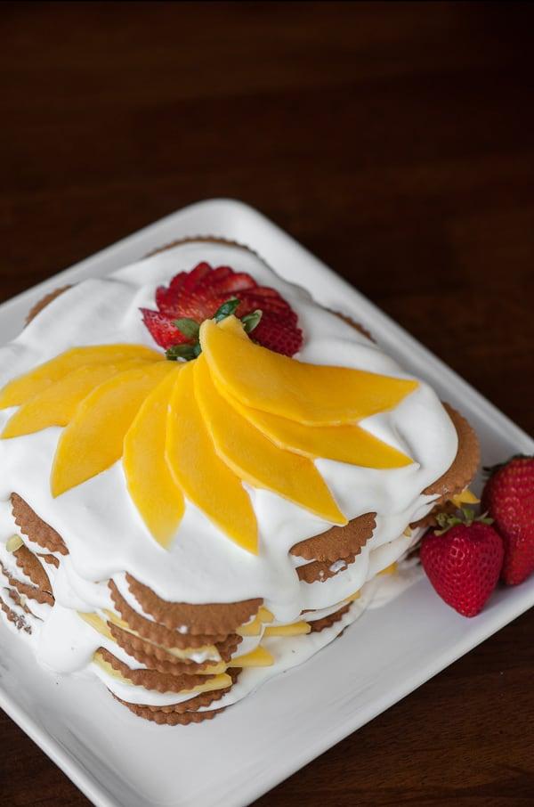 Mango Coconut Ginger Icebox Cake ⋆ Real Housemoms