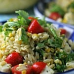 Orzo Salad with Grilled Corn and Cilantro Dressing is a perfect summertime side dish!