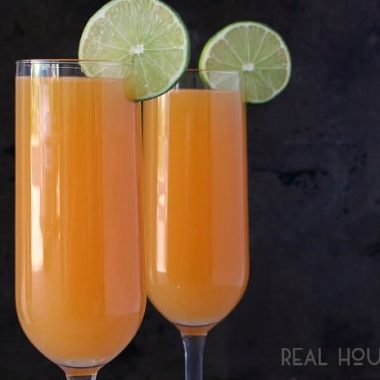 Nothing beats a hot summer day sippin' one of these Boozy Peachsicle drinks by the pool with your best girlfriends!