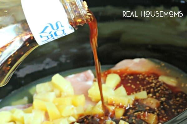 Slow Cooker Pineapple Teriyaki Chicken l Real Housemoms