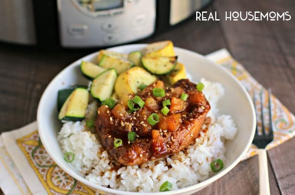 Slow Cooker Pineapple Teriyaki Chicken l Real Housemoms