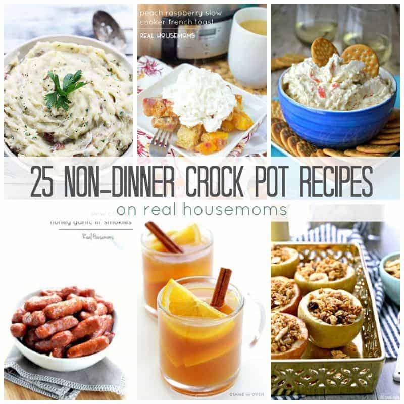 25 Non-Dinner Crock Pot Recipes ⋆ Real Housemoms