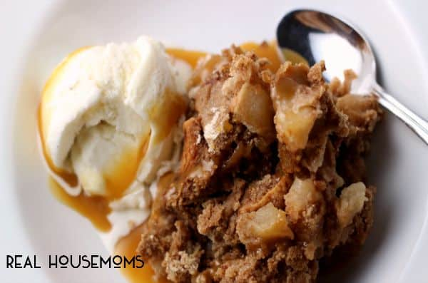 Add a scoop of vanilla ice cream and some salted caramel syrup to this 3-Ingredient Apple Spice Dump Cake for a treat that can't be beat!