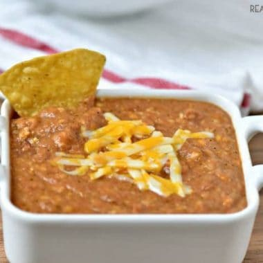 3 Ingredient Crock Pot Bean Dip