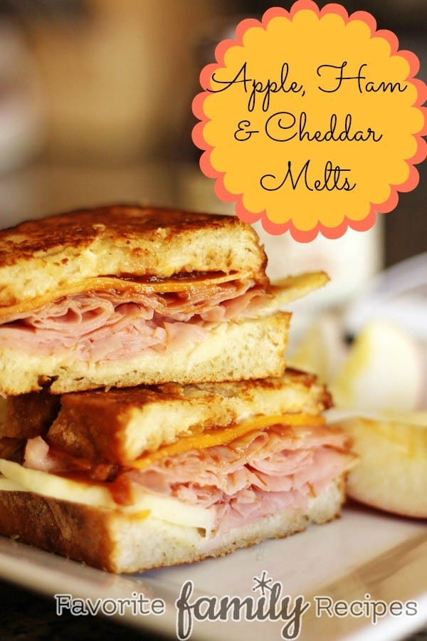 Apple Ham and Cheddar Melts - Family Favorite Recipes
