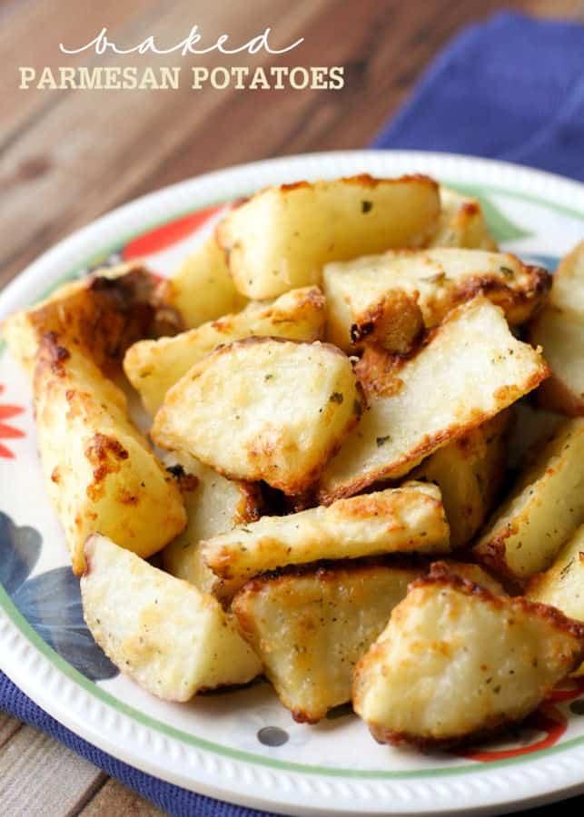 Baked Parmesan Potatoes - Lil Luna