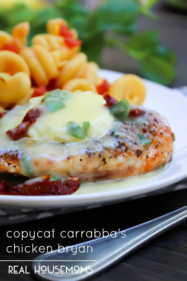 Copycat Carrabba's Chicken Bryan is the best chicken recipe you will ever encounter. Mouthwatering ingredients, to die for sauce and goat cheese. Need I say more?