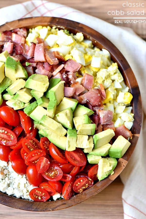 Classic Cobb Salad is may favorite classic salad to bring to parties or potlucks!