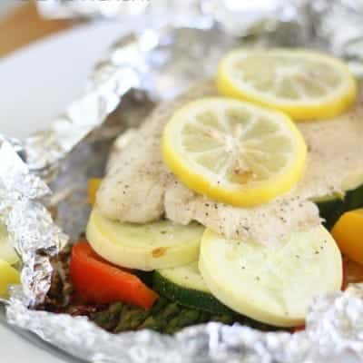 Fish and Vegetable Foil Dinner
