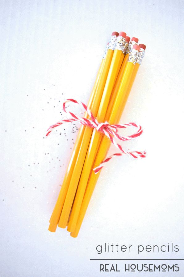 Surprise your favorite teacher with a bundle of Glitter Pencils for a fun back to school gift!