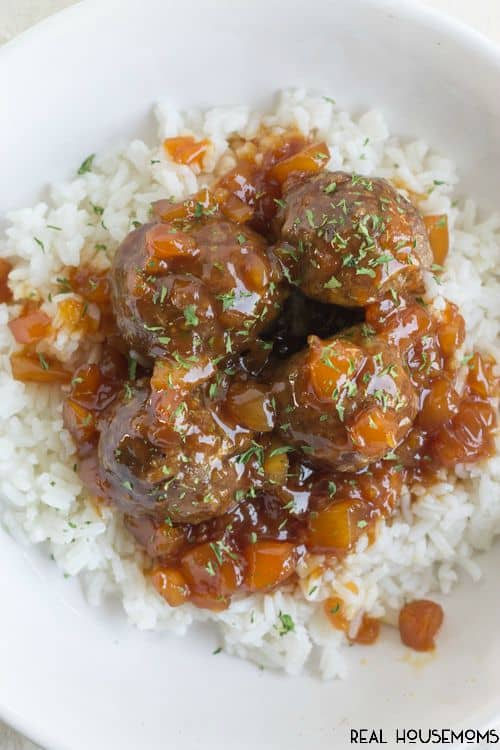 Hawaiian Meatballs come together in 30 minutes and are perfect for game day!