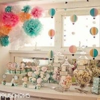 Our Hot Air Balloon Baby Shower is a unique gender-neutral party idea filled with lots of adorable favors, DIY project tutorials, free printables, games, decor and more!