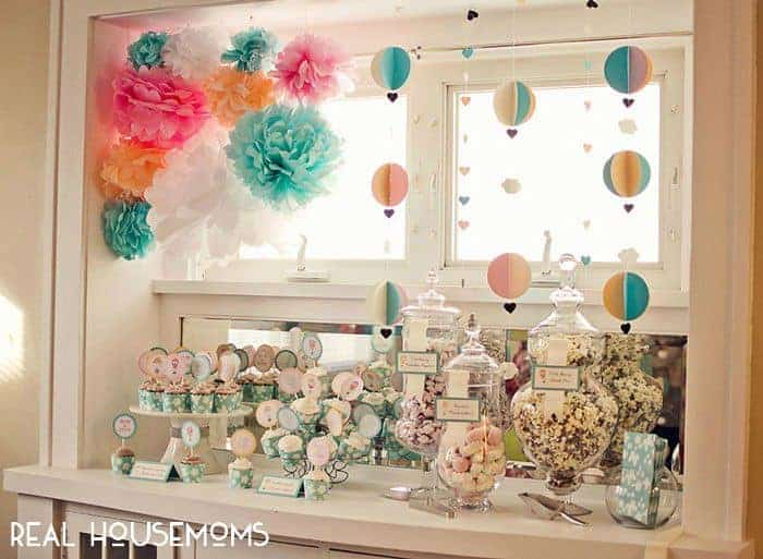 Hot Air Balloon Baby Shower Real Housemoms