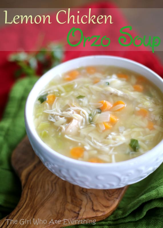 Lemon Chicken Orzro Soup - The Girl Who Ate Everything