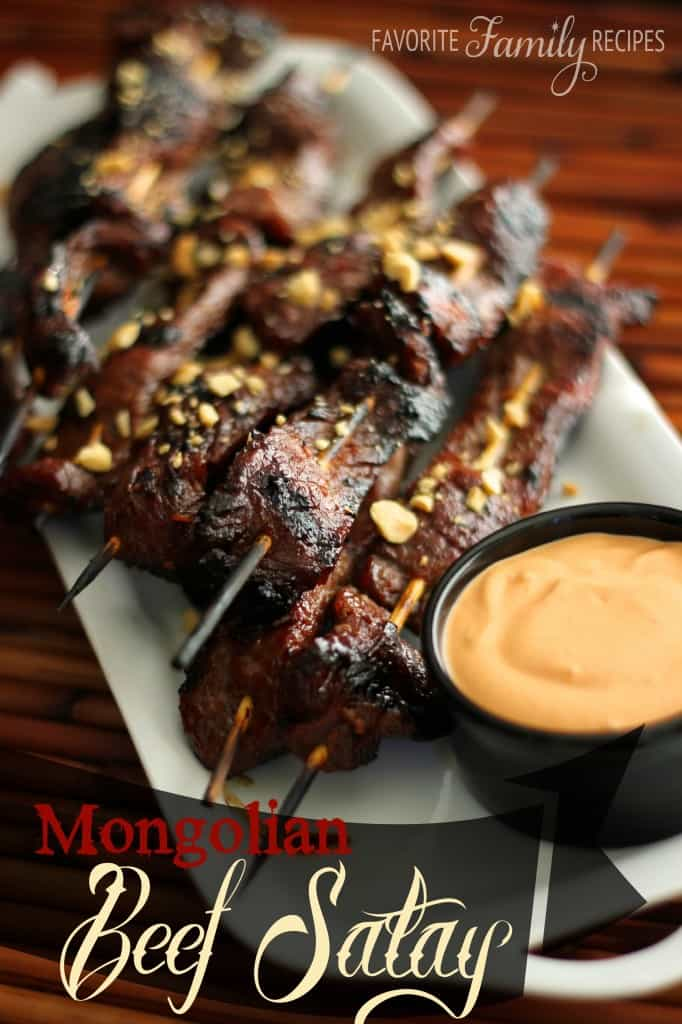 Mongolian Beef Satay - Favorite Family Recipes