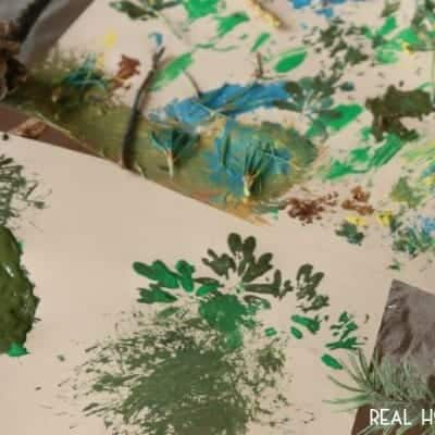 Kids Craft: Nature Painting