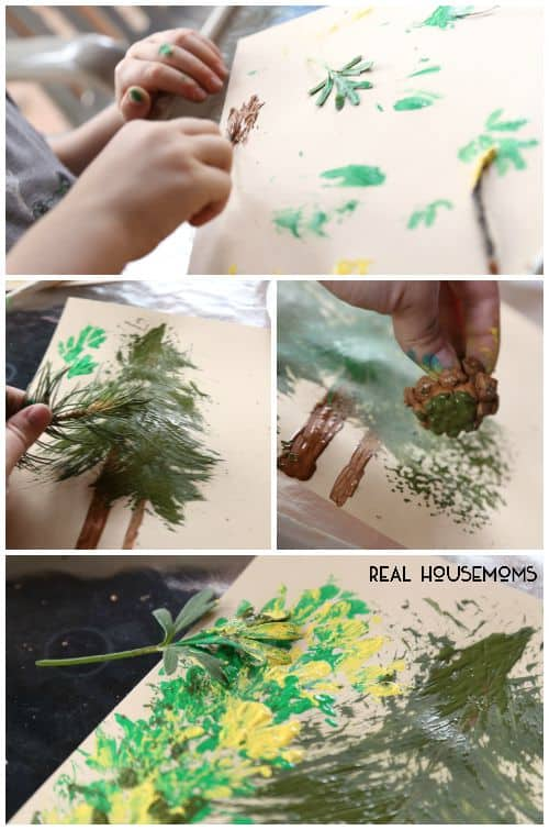 Help your kids discover nature in a new way with this Kid Craft: Nature Painting activity!