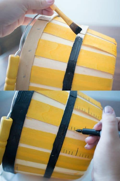Painted Ruler Basket - Teacher Gift | Real Housemoms