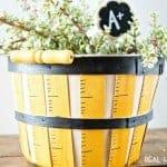 Painted Ruler Basket | Teacher Gift