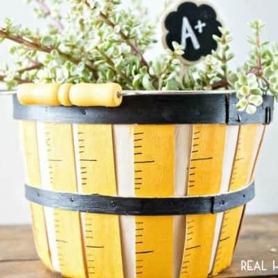 Painted Ruler Basket | Teacher Gift