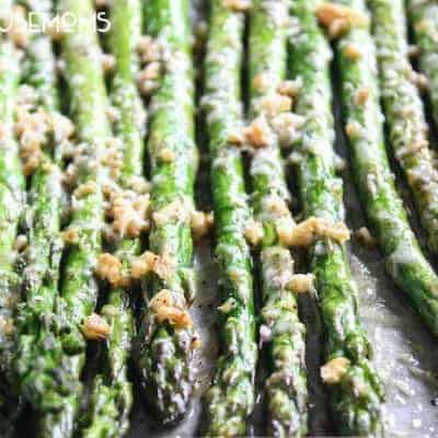 Roasted Garlic Parmesan Asparagus