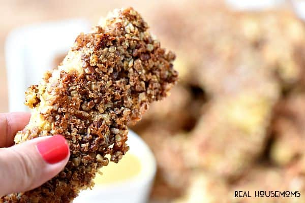 Pecan Crusted Chicken Tenders are my go to weeknight dinner!