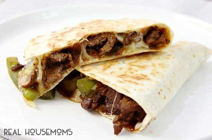 Switch up your dinner routine with these Philly Cheesesteak Quesadillas! They put a new spin on everything you love in the classic sandwich!