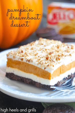 Pumpkin Dreamboat Dessert - High Heels and Grills
