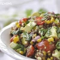 Turn all that gorgeous summer produce into a fabulous Meatless Monday meal with our Roasted Corn and Quinoa Salad