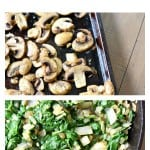 Roasted Mushroom Spinach Sausage Alfredo Pasta Bake tastes amazing and it's our new FAVORITE family dinner!!!