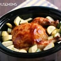 Make this complete Slow Cooker Barbecue Chicken and Veggies meal without heating your kitchen!