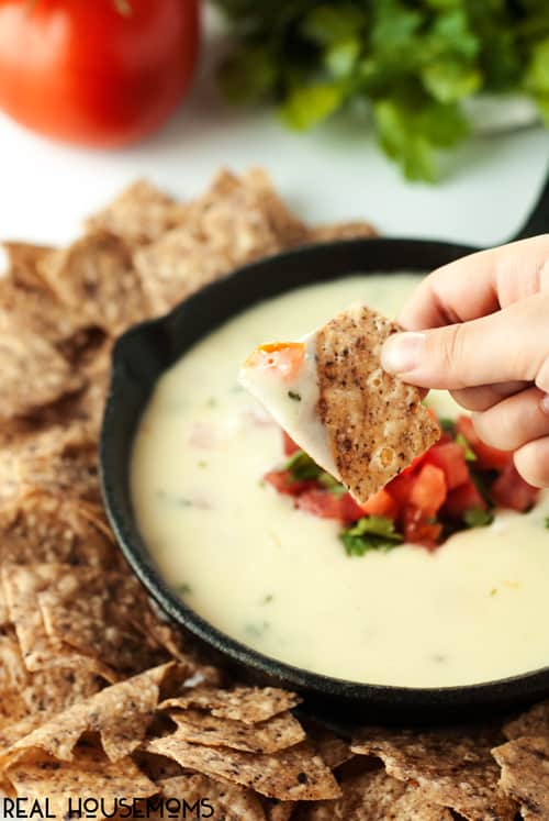 The perfect appetizer for family and friends, make this Spicy Restaurant Style Queso Blanco tonight!