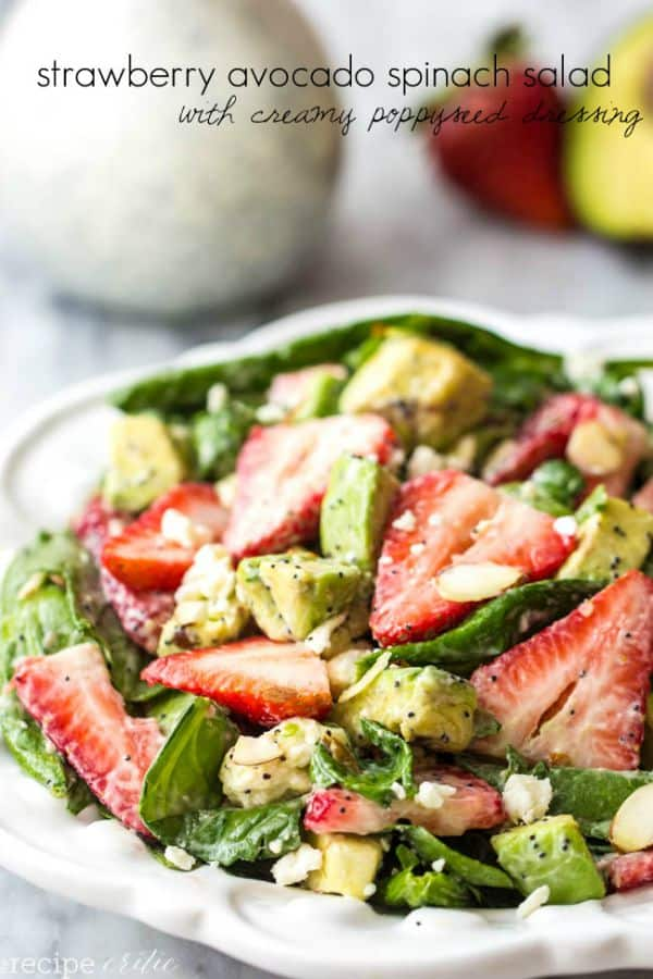 Strawberry Avocado Salad with Creamy Poppyseed Dressing - The Recipe Critic